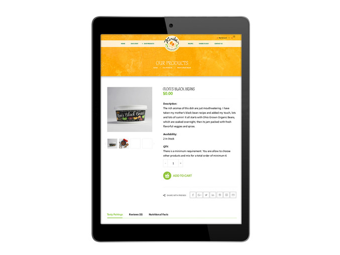 Kiribá Website - Single Product Page