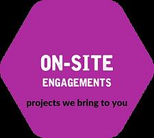 Hexagon - Purple - On-site Engagements.p