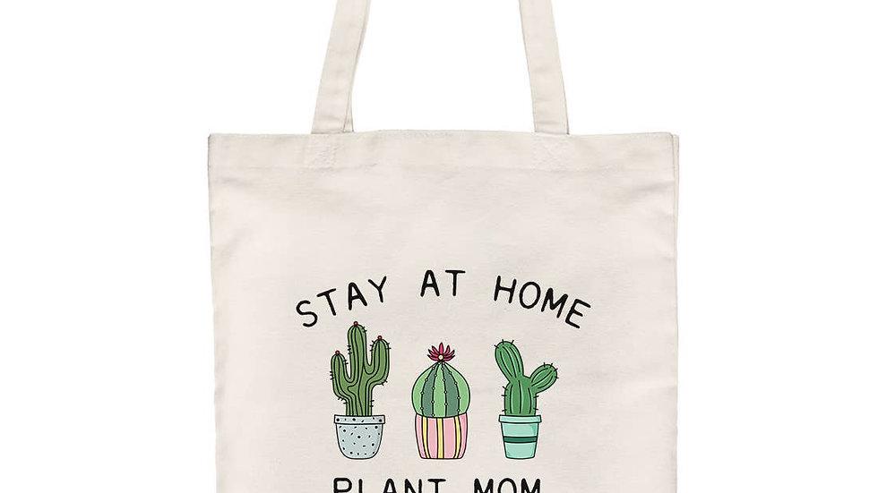 Plant Mom Canvas Tote