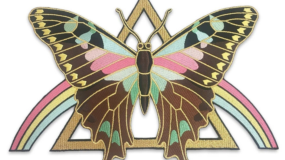 Mystical Butterfly Rainbow Back Patch Jumbo