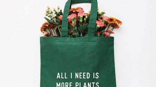 More Plants Tote Bag