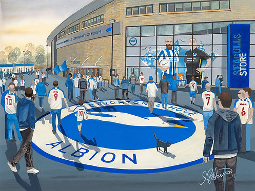 Brighton & Hove Albion F.C, AMEX Stadium (Artists Proof) Framed Giclee Art Print