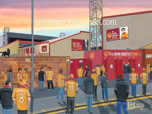 Motherwell F.C, Stadium High Quality Framed Artists Proof Print