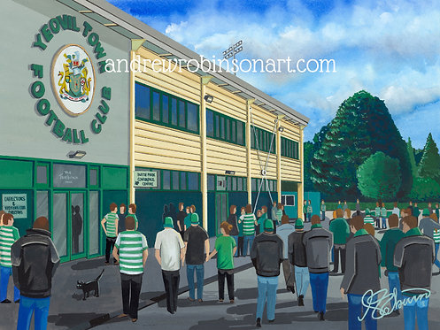 Yeovil Town Huish Park Stadium High Quality Framed Print