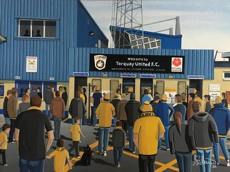 """""""Riviera Revelment"""". Torquay United F.C, Plainmoor Stadium"""
