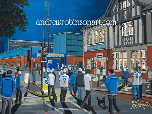 Tranmere Rovers FC Prenton Park Stadium High Quality Framed Artists Proof Print