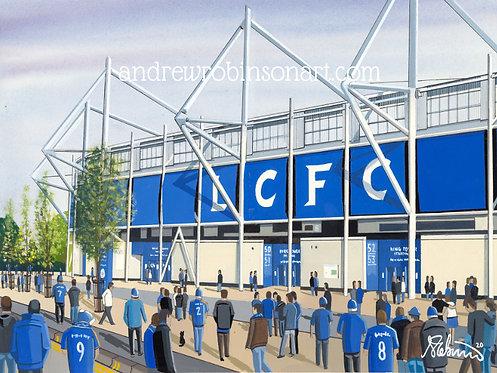 Leicester City F.C King Power Stadium. Framed High Quality Art Print