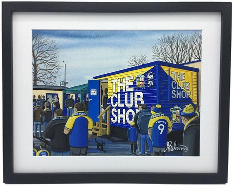 Solihull Moors Damson Park Stadium Stadium Framed High Quality Art
