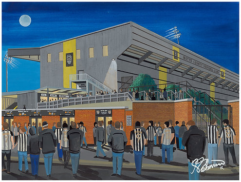 Notts County F.C Meadow Lane Stadium High Quality Framed Artists Proof Print