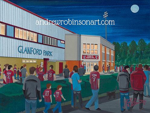 Scunthorpe United FC Glanford Park High Quality Framed Print