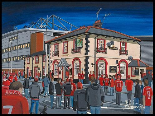Wrexham A.F.C, Racecourse Ground Stadium Framed Print