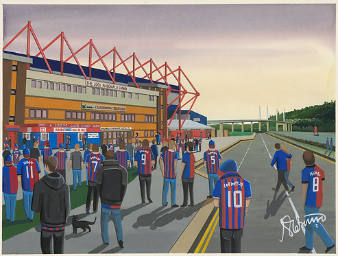 Inverness Caledonian Thistle FC Caledonian Stadium Framed High Quality Art Print