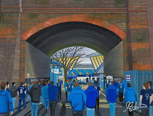 Millwall F.C, The Den Stadium High Quality Framed Giclee Art Print