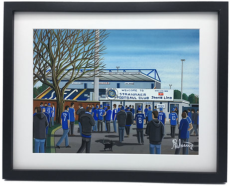 Stranraer F.C Stair Park Stadium Stadium Framed High Quality Art Print