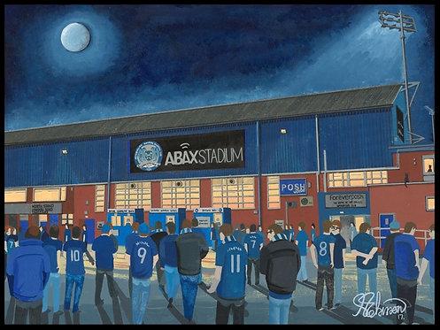 Peterborough United F.C, ABAX Stadium framed Artists Proof Print