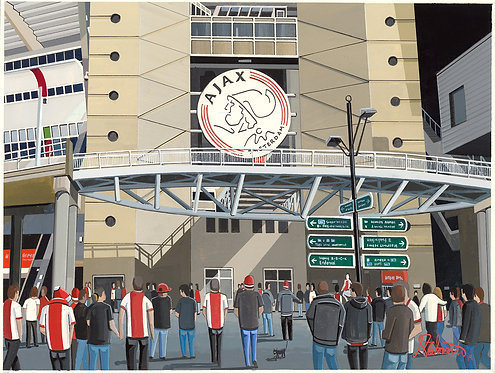 Ajax Yohan Cruyff Arena High Quality Framed Art Print