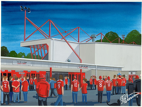 Crawley Town F.C Broadfield Stadium High Quality Framed Artists Proof Print