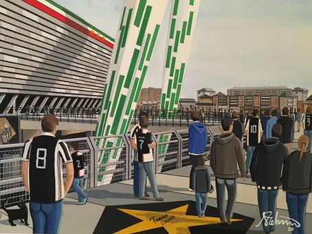 The Walkway to Juve. Juventus F.C, Allianz Arena, Turin.