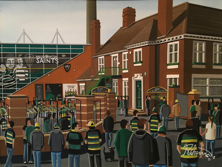 """No Complaints From The Saints"". Northampton Saints, Franklins Gardens."