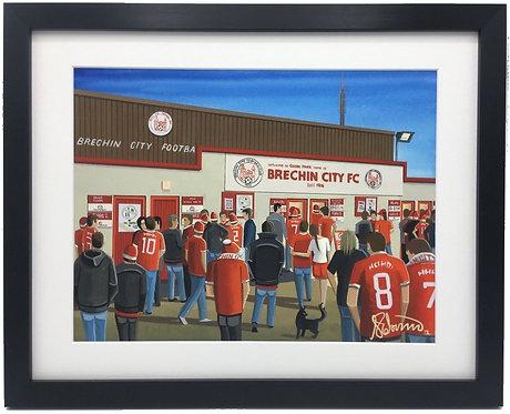Brechin City F.C, Glebe Park Stadium Framed High Quality Art