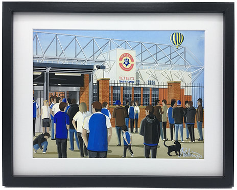 Leeds Rhinos Rugby. Headingley Stadium, Framed High Quality Art Print