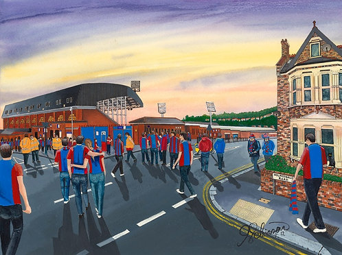 Crystal Palace F.C, Selhurst Park Stadium High Quality Framed Giclee Art Print
