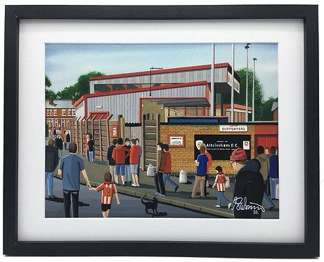 Altrincham F.C Moss Lane Stadium Framed High Quality Art Print