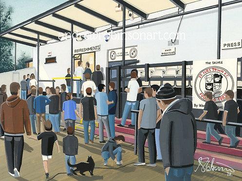 St Ives Town F.C Westwood Road Stadium Framed High Quality Art Print