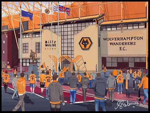 Wolverhampton Wanderers F.C Molineux Stadium High Quality Framed Art Print