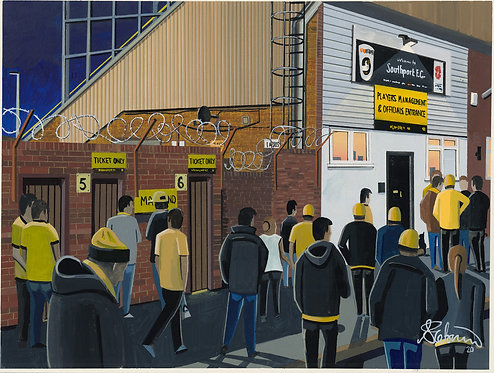 Southport F.C, Haig Avenue Stadium. Framed High Quality Art Prin