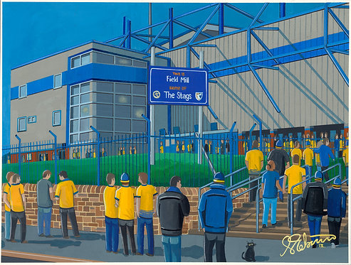 Mansfield Town FC Field Mill Stadium High Quality Framed Print