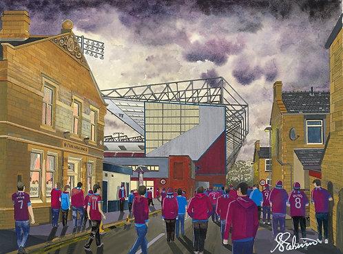 Burnley F.C, Turf Moor Stadium High Quality Framed Giclee Art Print
