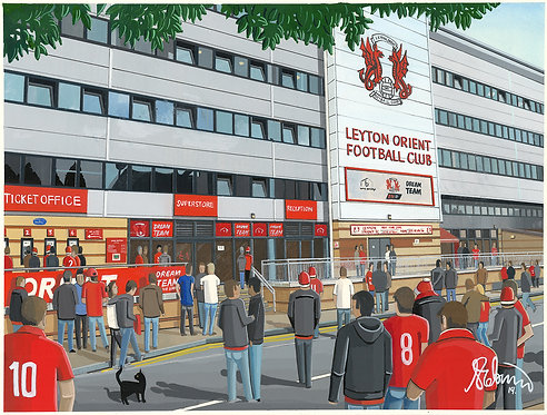 Leyton Orient F.C Brisbane Road High Quality Framed Art Print