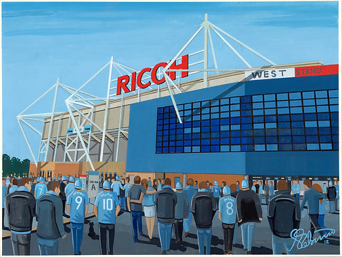 Coventry City FC Ricoh Arena High Quality Framed Artists Proof Print