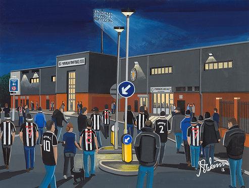 St Mirren, St Mirren Park Stadium Framed High Quality Art Print