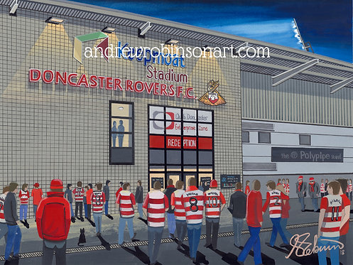 Doncaster Rovers F.C Keepmoat Stadium High Quality Framed  Print