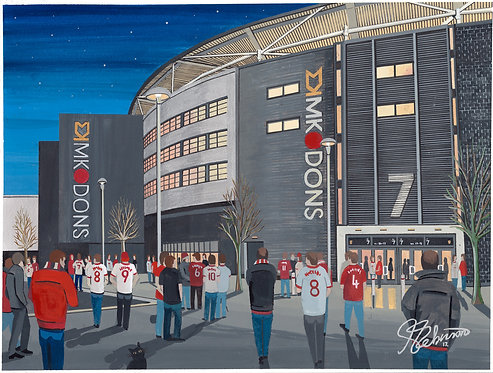 Mk Dons FC Stadium MK High Quality Framed Artists Proof