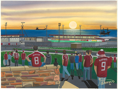Arbroath F.C Gayfield Park Stadium Framed High Quality Art Prin