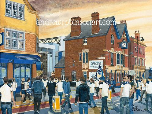 Tottenham Hotspur F.C, White Hart Lane Stad High Quality Framed Giclee Art Print