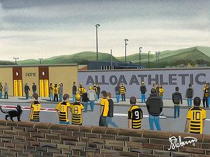 Alloa Athletic F.C, Recreation Park Framed High Quality Art Print