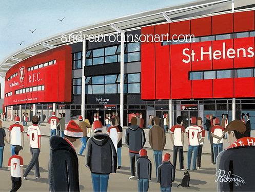 St Helens Totally Wicked Stadium Framed High Quality Art Print