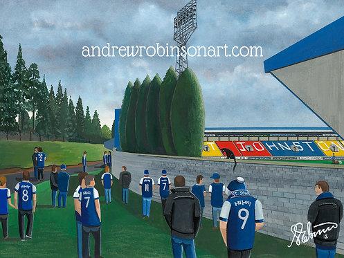 St Johnstone F.C, McDiarmid Park Stadium Framed High Quality Art Print