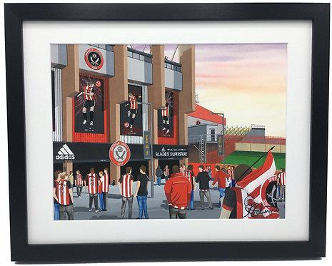 Sheffield United F.C, Bramall Lane Stadium High Quality Framed Giclee Art Print