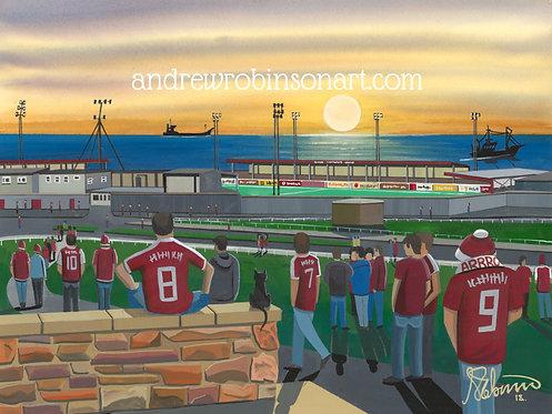 Arbroath F.C Gayfield Park Stadium Framed High Quality Art Prin