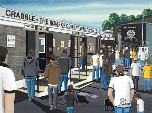Dover Athletic, Crabble Stadium Framed High Quality Art Print
