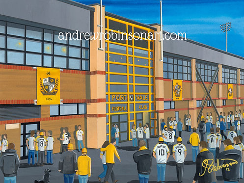 Port Vale F.C, Vale Park Stadium High Quality framed Artists Proof Print