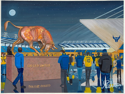 Oxford United Kassam Stadium High Quality Framed Art Print