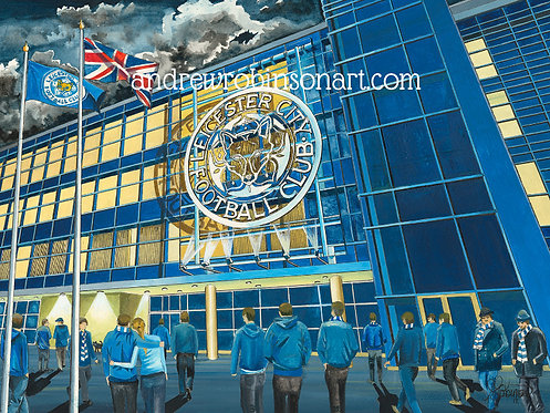 Leicester City F.C, King Power Stadium Framed Art Print.