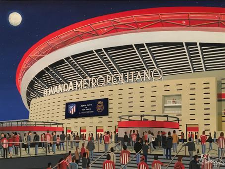 El Derbi Madrileno. Atletico Madrid. Wanda Metropolitano Stadium.