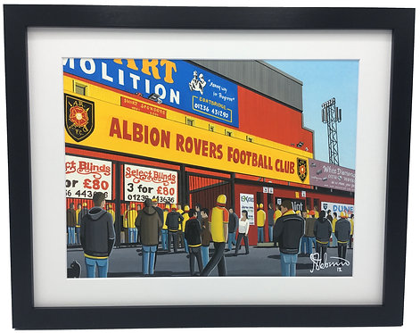 Albion Rovers F.C, Cliftonhill Stadium Framed High Quality Art Print